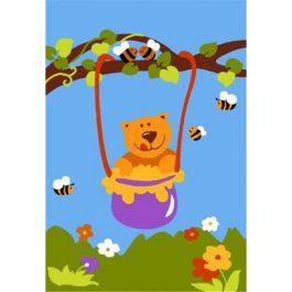 Детский коврик Медвежонок и мёд в Калининграде