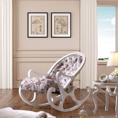 Кресло-качалка майские цветы в мебельном центре Уют, Калининград