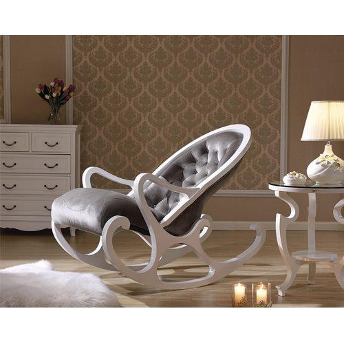 Кресло-качалка белый с серым в мебельном центре Уют, Калининград