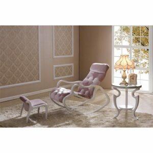 Кресло-качалка бело-розовое в мебельном центре Уют, Калининград